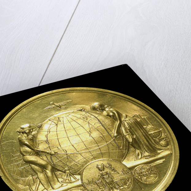 Medal commemorating the first transatlantic cable, 1858; obverse by Tiffany & Co.