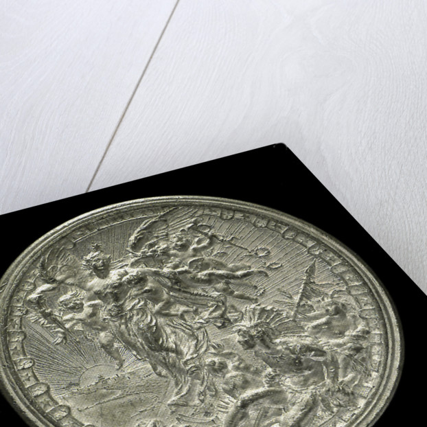 Medal commemorating the fourth centenary of the discovery of America, 1892; reverse by L. Pogliaghi