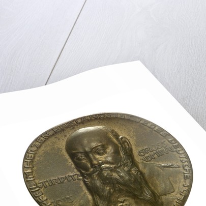 Medal commemorating Grossadmiral Alfred von Tirpitz (1849-1930); obverse by P. Sturm