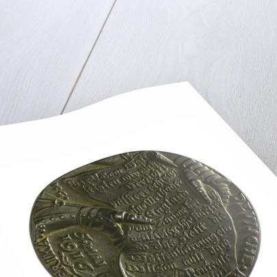 Medal commemorating the American note on U-boat warfare, 1916; reverse by Karl Goetz