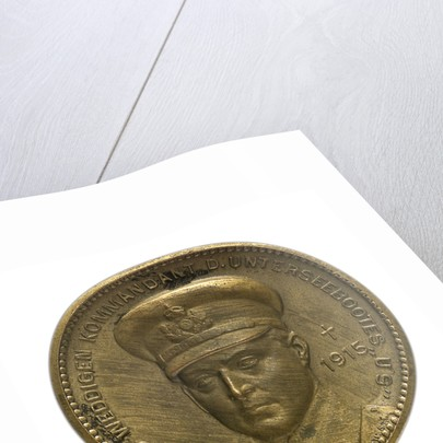 Medal commemorating Captain-Lieutenant Otto von Weddigen (1882-1915) submarine commander; obverse by unknown