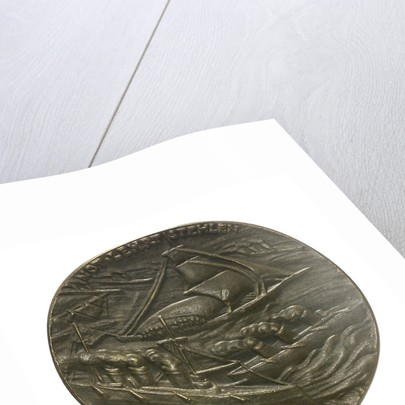 Medal commemorating Dutch trade restrictions during the First World War; obverse by Karl Goetz