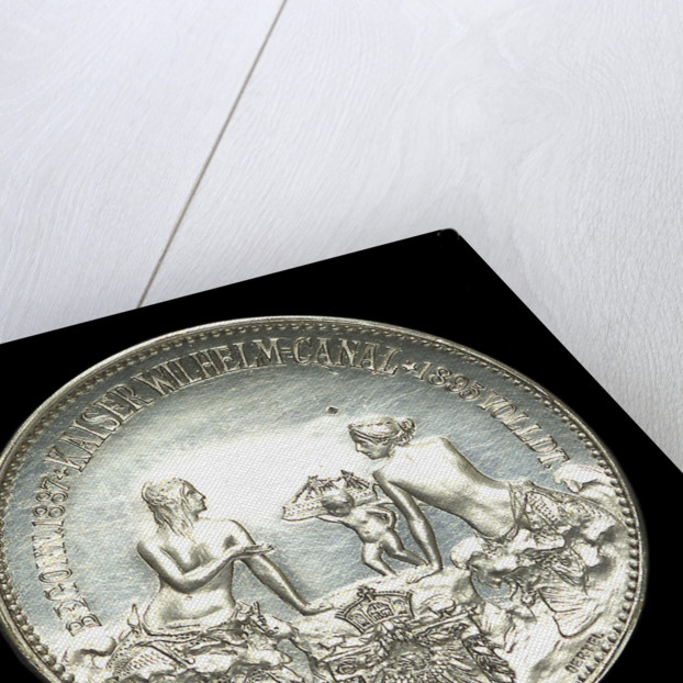 Medal commemorating the opening of the Kiel Canal, 1895; reverse by Oertel