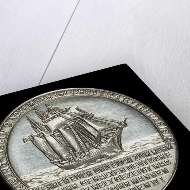 Medal commemorating Captain-Lieutenant Helmuth von Mücke (1881-1957) and the cruiser 'Emden' by L.C. Lauer