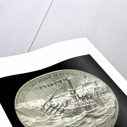 Medal commemorating Captain-Lieutenant Otto von Weddigen (1882-1915) Commander of 'U9' and 'U29'; reverse by F. Eue