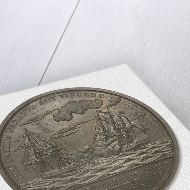 Medal commemorating Captain Lewis Warrington (1782-1851) and the action between USS 'Peacock' and HMS 'Epervier', 1814; reverse by Moritz Furst