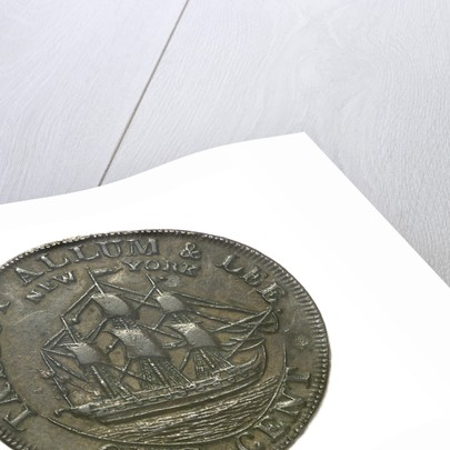 New York cent token; obverse by unknown
