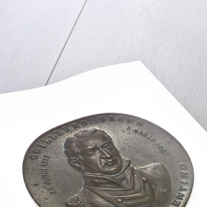 Medal commemorating Admiral William Brown (1777-1857); obverse by unknown