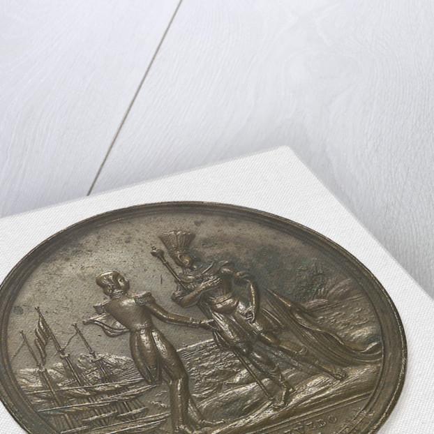 Medal commemorating the visit of Admiral François Ferdinand de Joinville (1818-1900) to Rio de Janeiro, 1838 by C.C. de Azevedo