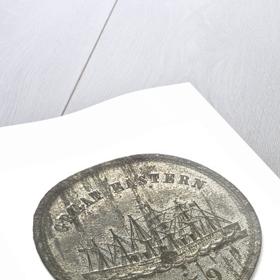 Medal commemorating the SS 'Great Eastern'; obverse by J.H. Merriam
