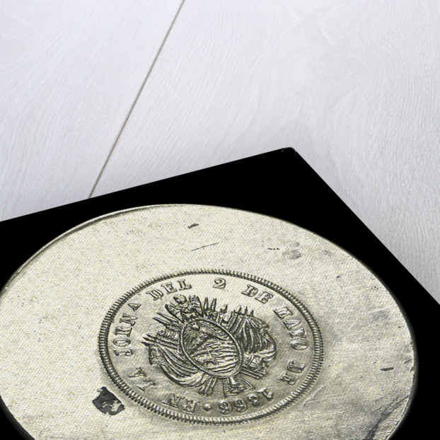 Medal commemorating the defence of Callao, 1866; reverse by unknown