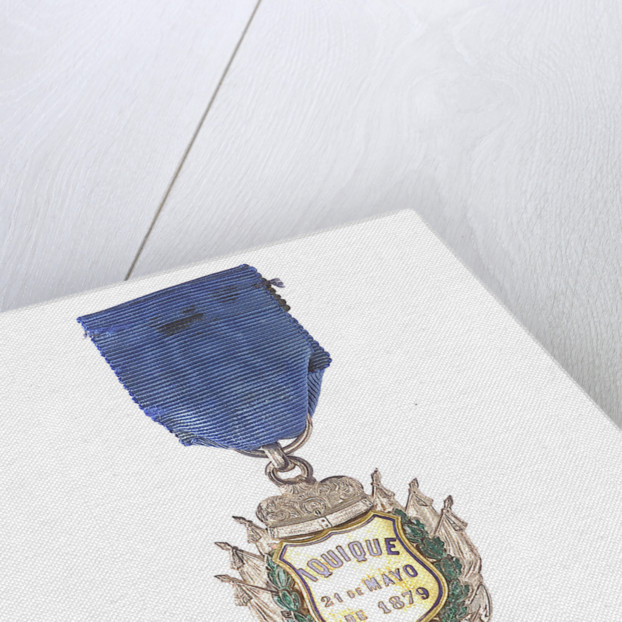 Badge commemorating the action off Iquique, 1879; obverse by unknown