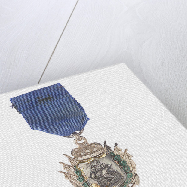 Badge commemorating the action off Iquique, 1879; reverse by unknown