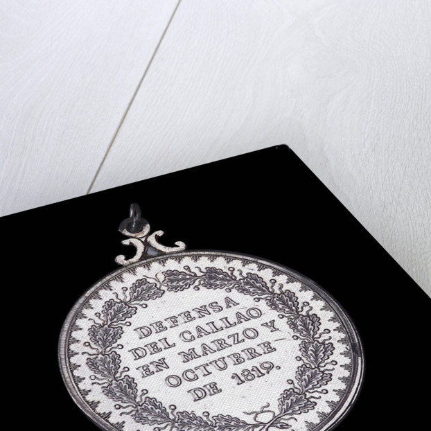 Medal commemorating the defence of Callao, 1819; reverse by A. Davalos