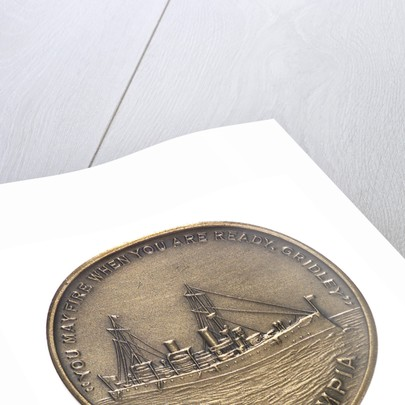 Medal commemorating the Battle of Manila Bay and USS 'Olympia'; 60th anniversary, 1958; obverse by unknown
