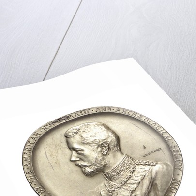 Medal commemorating the visit of Admiral Prince Henry of Prussia to America, 1902; obverse by V.D. Brenner