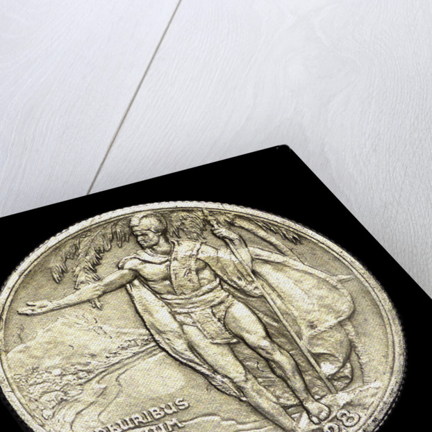 Coin commemorating the discovery of Hawaii by James Cook, 1778; reverse by unknown