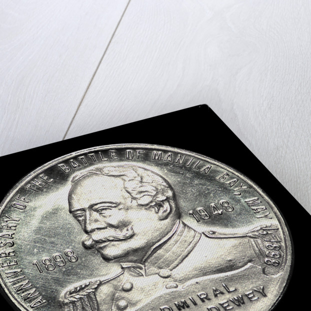 Medal commemorating the 50th anniversary of the Battle of Manila Bay, 1948; obverse by W. & H. Co.