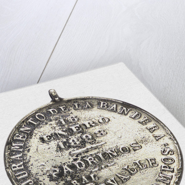 Argentine Naval School badge of the Oath to the Flag; reverse by unknown