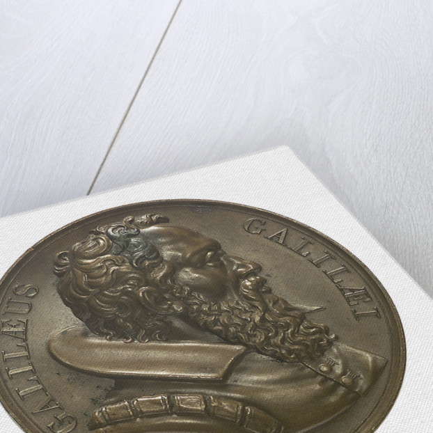 Commemorative medal depicting Galilaeo Galilei (1564-1642); obverse by R. Cayrard