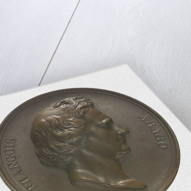 Commemorative medal depicting Dominique Francois Jean Arago (1786-1855); obverse by A.F.A. Bovy