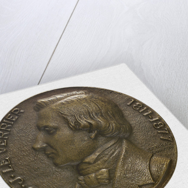Medal commemorating the centenary of the discovery of the planet Neptune, 1946; obverse by Georges Guiraud