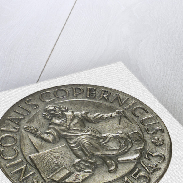Medal commemorating the quartercentenary of the death of Nicholas Copernicus, 1943; obverse by Wojciech Jastrzebowski