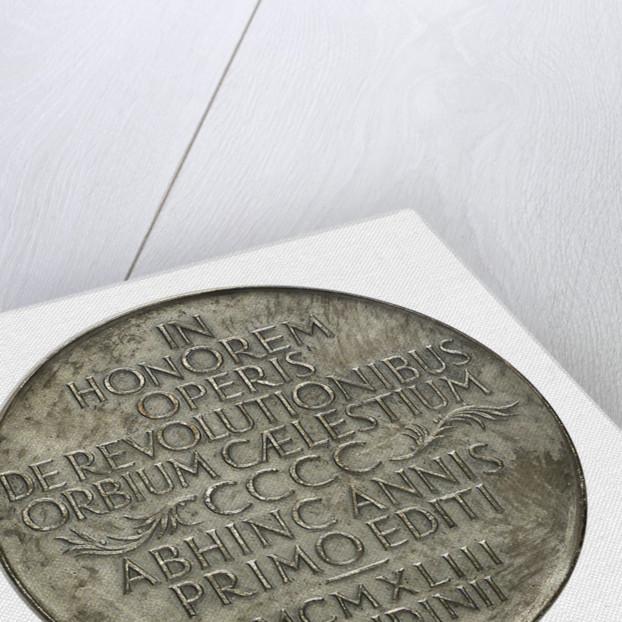 Medal commemorating the quartercentenary of the death of Nicholas Copernicus, 1943; reverse by Wojciech Jastrzebowski