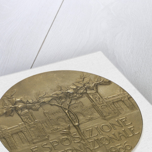 Medal commemorating the Milan International Exhibition, 1906; reverse by S. Johnson