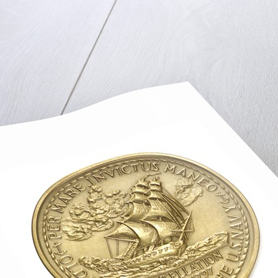Medal commemorating the Centennial Diamond Jubilee of USS 'Constellation', 1972; reverse by S.J.W.