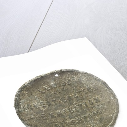Medal commemorating Lewis's Great Eastern exhibition, Liverpool; reverse by unknown