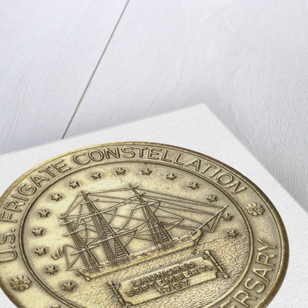 Medal commemorating the US Frigate 'Constellation'; reverse by unknown