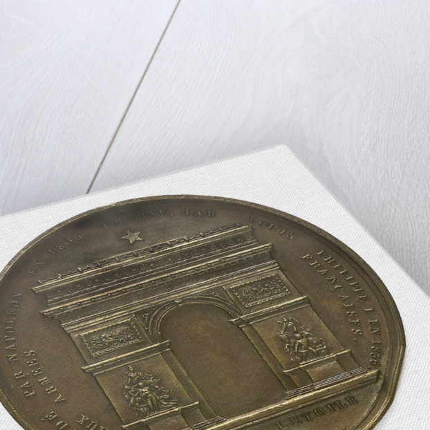 Medal commemorating Napoleon I and the building of the Arc de Triomphe; reverse by Montagny