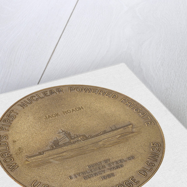 Medal commemorating the USS 'Bainbridge'- world's first nuclear powered frigate by unknown