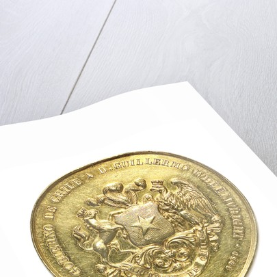 Medal commemorating the introduction of the first steamships in the Pacific; obverse by unknown