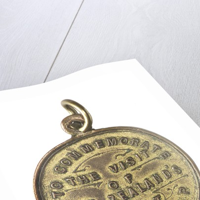 Medal commemorating the visit of New Zealand's gift battleship, HMS 'New Zealand'; reverse by unknown