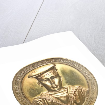 Medal commemorating John Travers Cornwell VC (1900-1916) and the Battle of Jutland, 1916; obverse by Spink & Son Ltd.