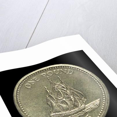 Pound; reverse by R. Elderton