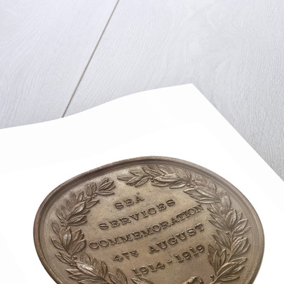Medal of  the Sea Services Commemoration, 1919; reverse by Heming & Co.