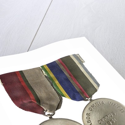 Two medals: medal commemorating HMS 'London', Funchal 1931and medal commemorating HMS 'London', Cyprus 1931; obverse by unknown