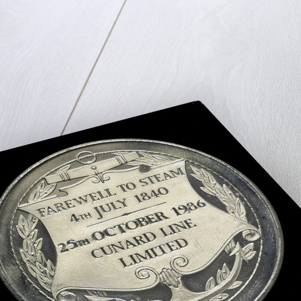Medal commemorating the 'Queen Elizabeth 2' - Last North Atlantic Crossing by Steam; reverse by unknown