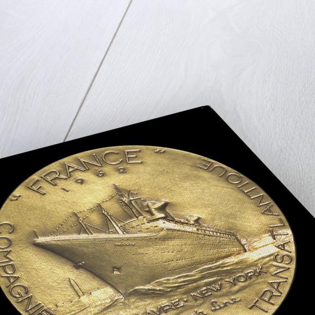 Medal commemorating the liner 'France' 1962; reverse by Monnae de Paris