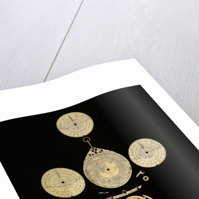 Astrolabe: dismounted reverse by Mahmud ibn Shawka al-Baghdadi