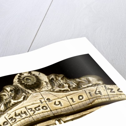 Caird Astrolabe: detail of throne by unknown