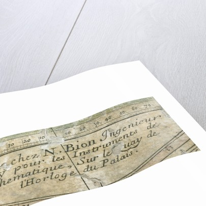 Astrolabe: detail of signature by Nicolas Bion
