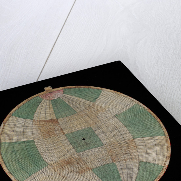 Astrolabe: plate with frisius projection by Nicolas Bion