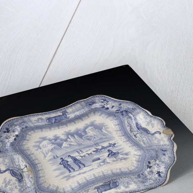 Tureen and cover in 'Arctic Scenery' pattern by unknown