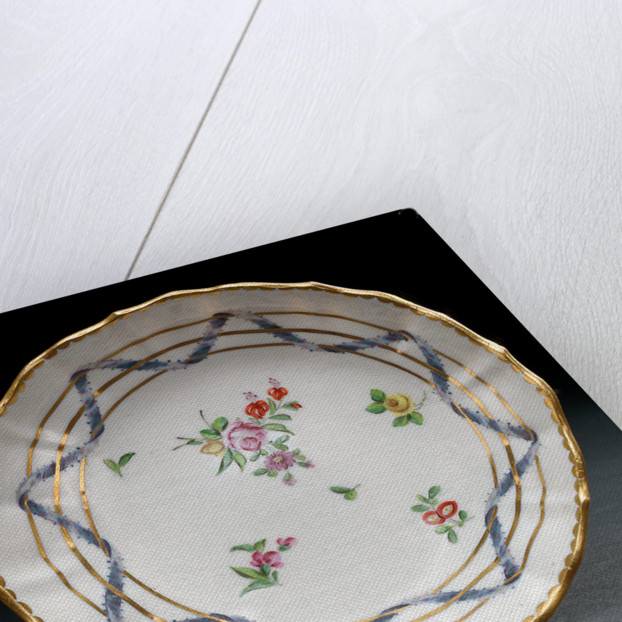 Saucer, part of a tea service reputedly belonging to Vice-Admiral Horatio Nelson (1758-1805) by Richard Champion