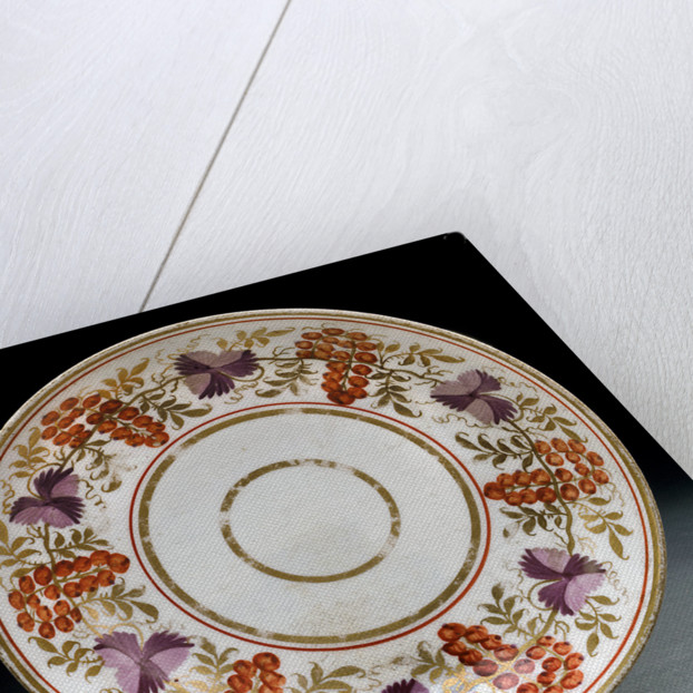 Saucer, part of a set reputedly belonging to Vice-Admiral Horatio Nelson (1758-1805) by unknown