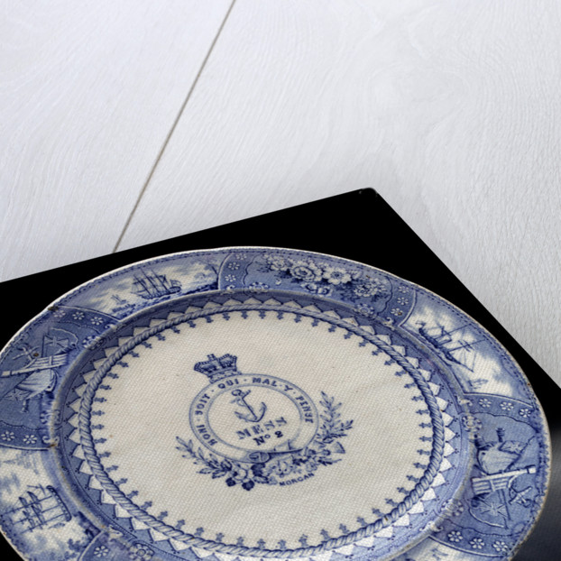 Earthenware mess plate by Bovey Tracey Pottery Company